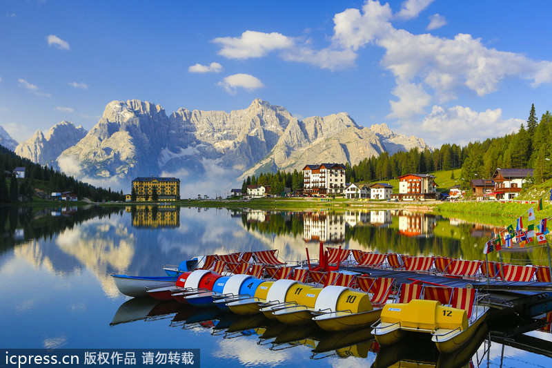 意大利北部的多洛米蒂山区,阿尔卑斯最美的山脉。 (转)