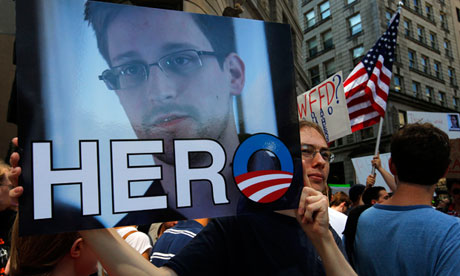 Demonstration Edward Snowden