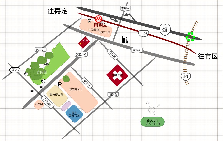 上海嘉定南翔古猗园交通图